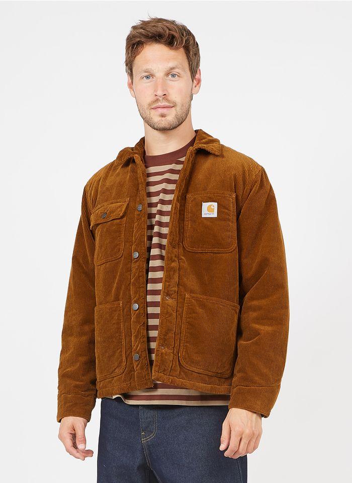 CARHARTT WIP Cazadora regular fit de pana con cuello clásico en marrón