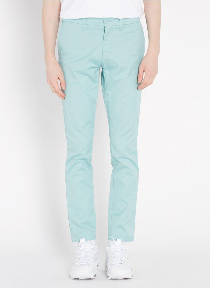 CARHARTT WIP Pantalón chino de algodón con talle bajo slim-fit en azul