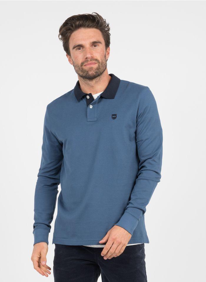 EDEN PARK Polo regular fit de algodón en azul