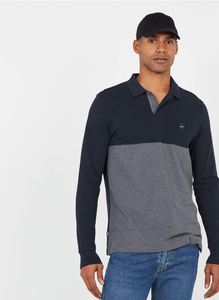 EDEN PARK Polo regular fit de piqué de algodón en azul
