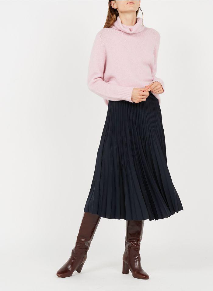 GERARD DAREL Falda midi plisada en azul