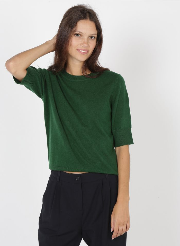GERARD DAREL Jersey de lana con cuello redondo en verde