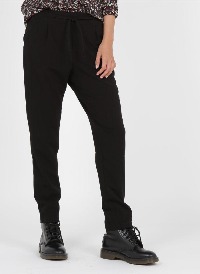 LA FEE MARABOUTEE Pantalón recto en negro