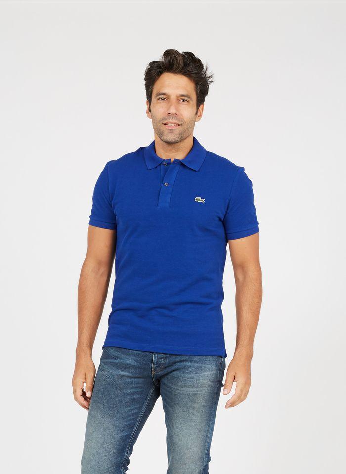 LACOSTE Polo slim fit de piqué de algodón en azul
