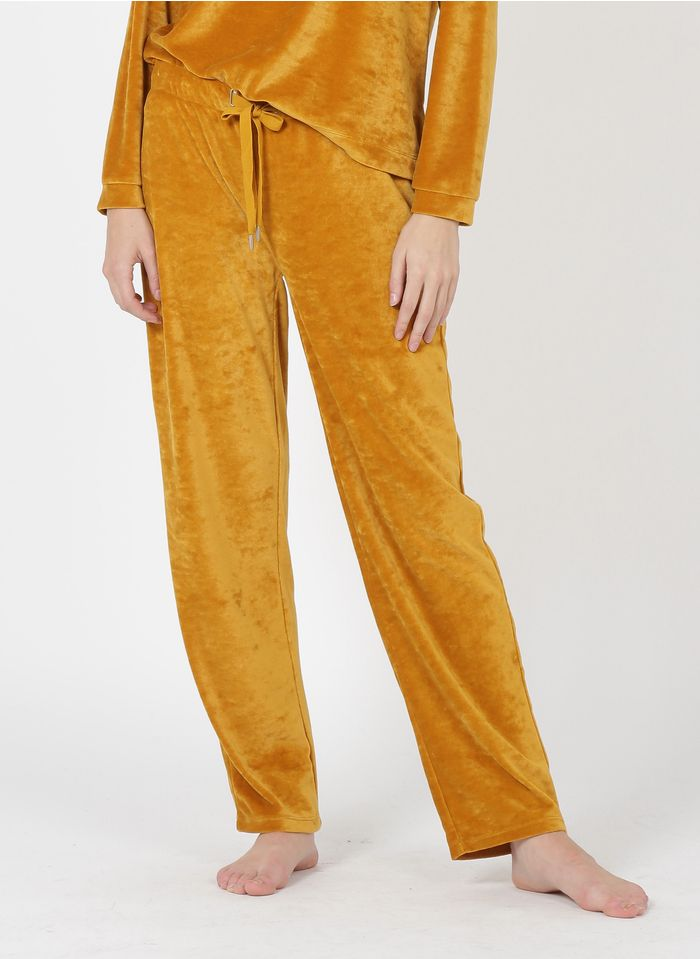 LAURENCE TAVERNIER Pantalón suave de mezcla de algodón en rojo