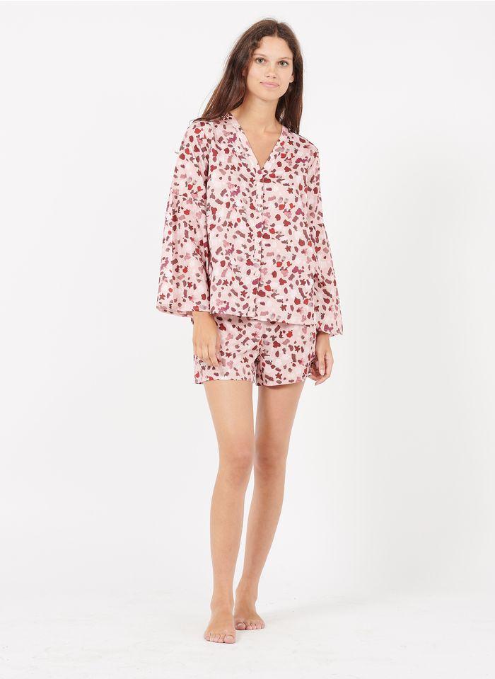LAURENCE TAVERNIER Pijama corto estampado de algodón en rosa
