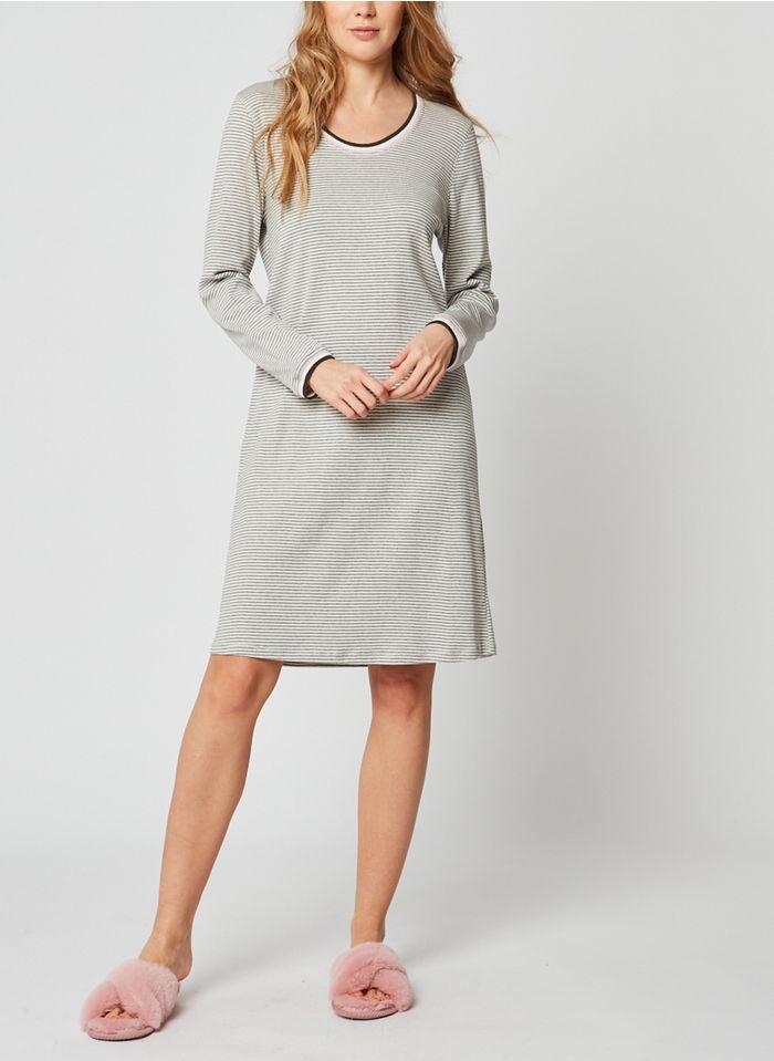 LE CHAT Camisón de algodón en gris