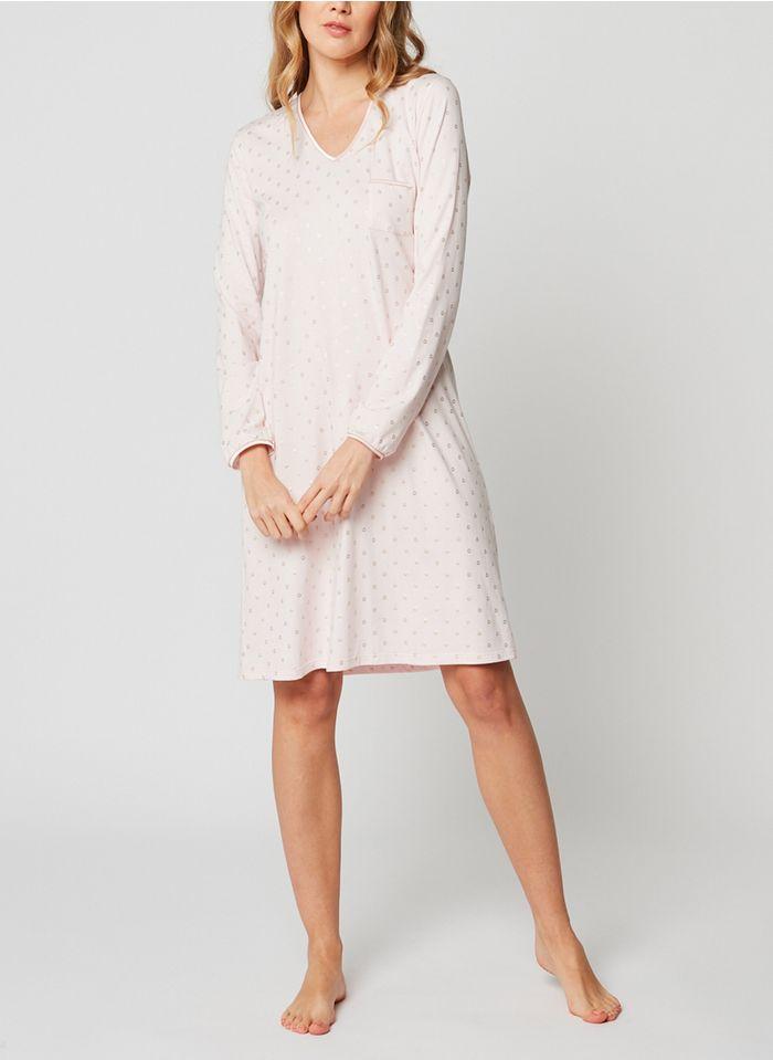 LE CHAT Camisón de mezcla de algodón en rosa