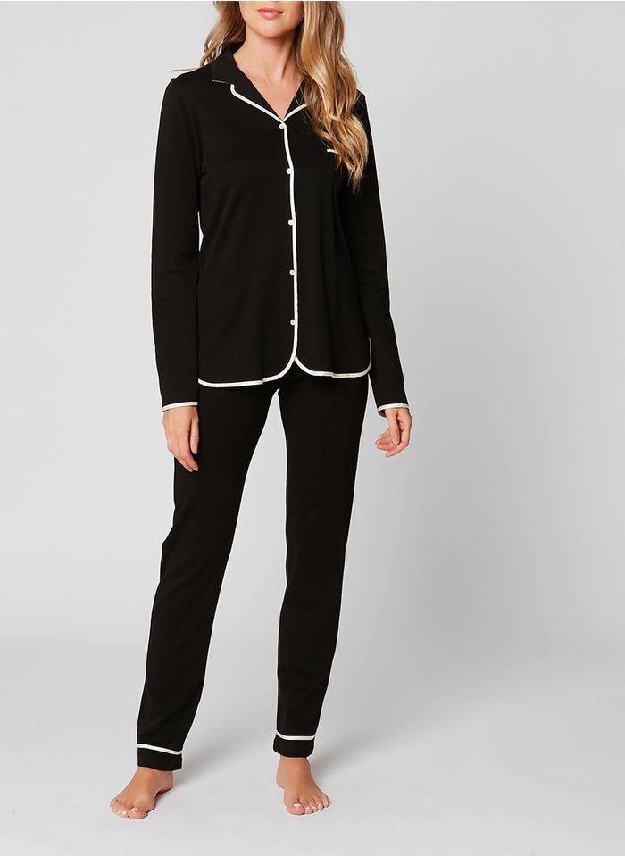 LE CHAT Pijama pantalón de algodón en negro