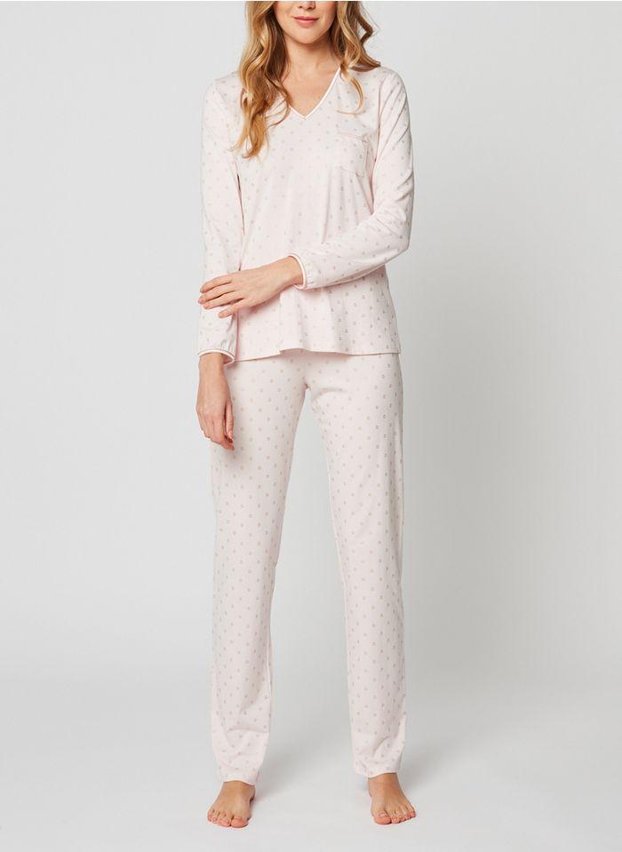 LE CHAT Pijama pantalón de mezcla de algodón en rosa