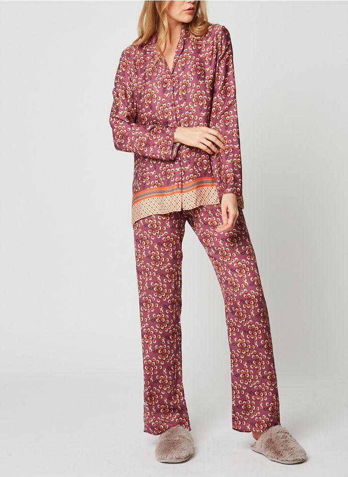 LE CHAT Pijama vaporoso con estampado floral en multicolor