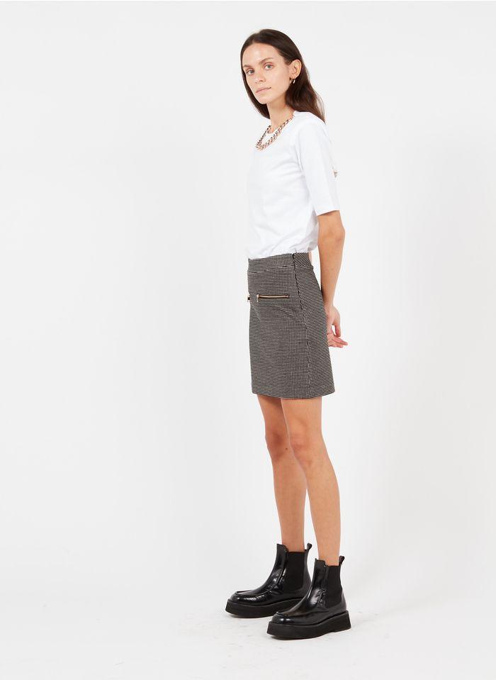LIU JO Minifalda de jacquard metalizado en negro