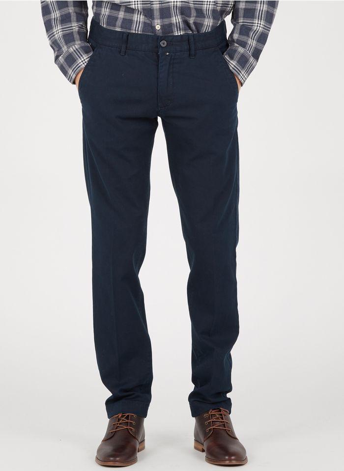 MARC O'POLO Pantalón chino slim fit de mezcla de algodón en azul