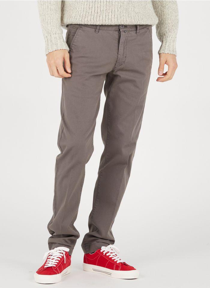 MARC O'POLO Pantalón chino slim fit de mezcla de algodón en gris