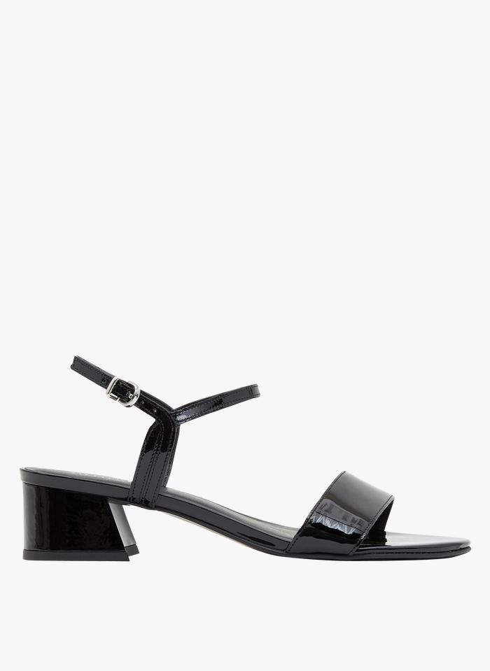 MINELLI Sandalias de piel con tacón en negro