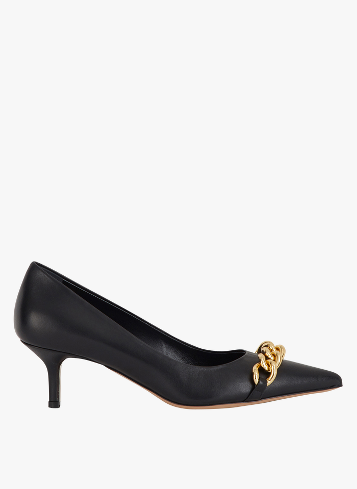 MINELLI Zapatos de salón de piel acabados en punta en negro