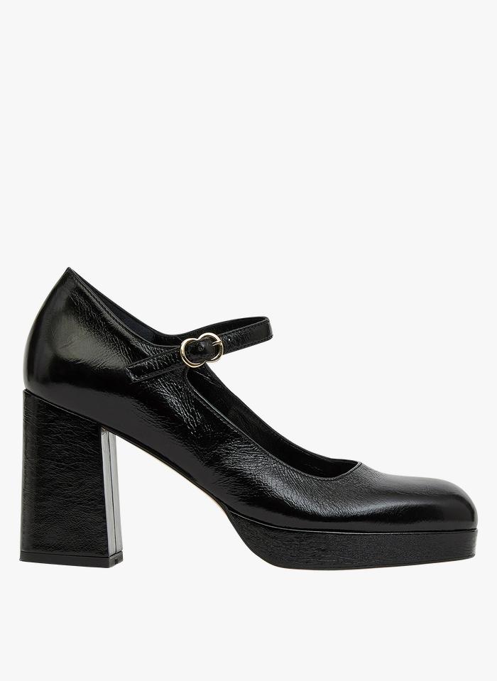 MINELLI Zapatos de salón de piel con tacón en negro