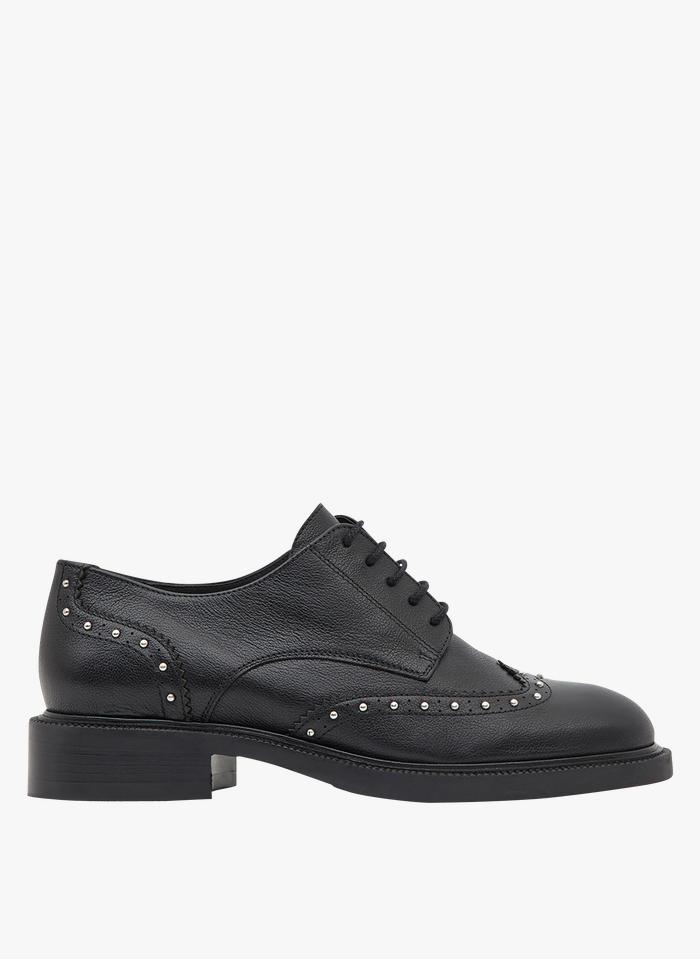 MINELLI Zapatos derby de piel en negro