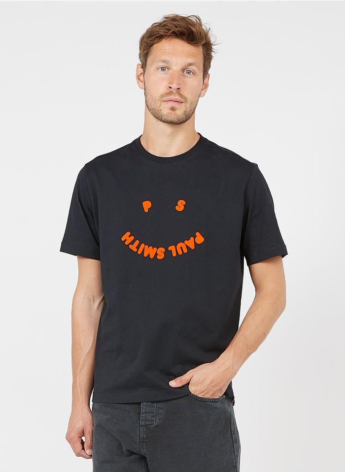 PAUL SMITH Camiseta regular fit de algodón orgánico con cuello redondo en negro