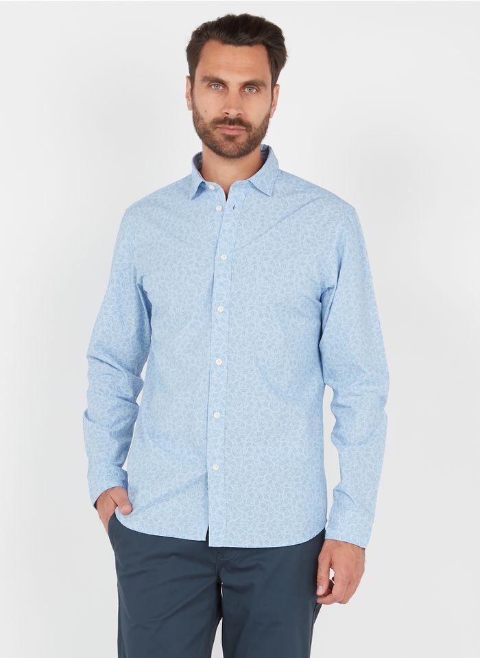 SELECTED Camisa slim fit de algodón con cuello clásico en azul