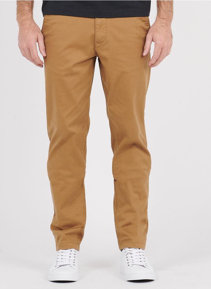 SELECTED Pantalón chino recto de algodón en beige