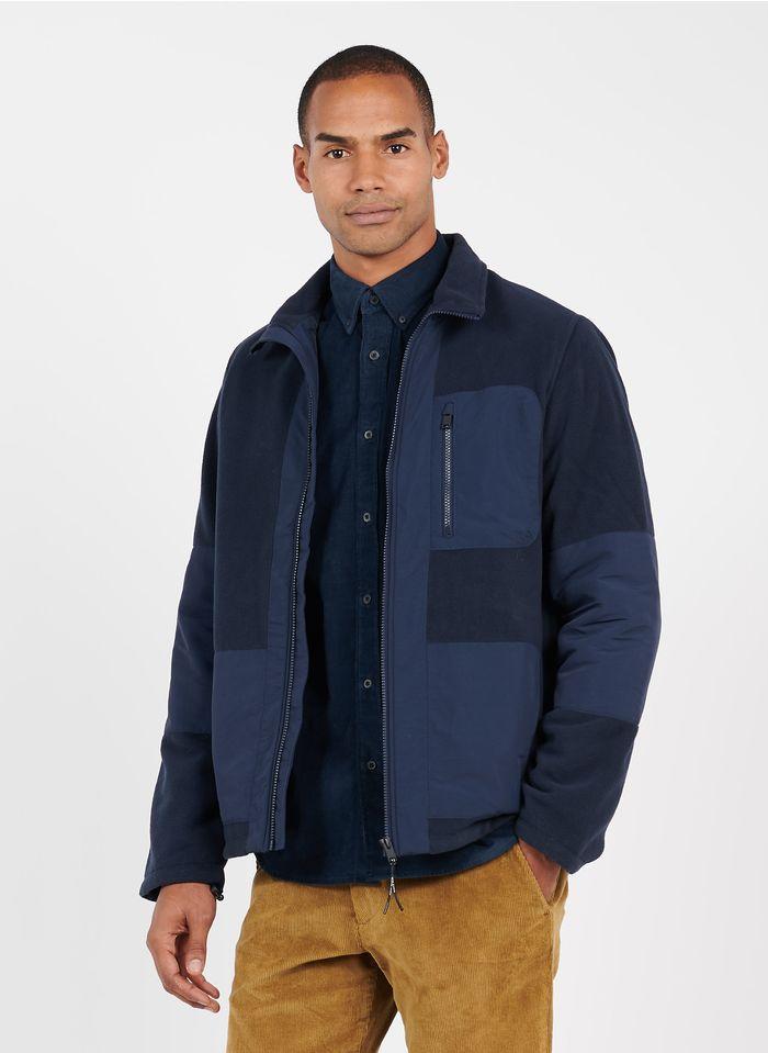 SELECTED Polar regular fit con cuello alto y cremallera en azul