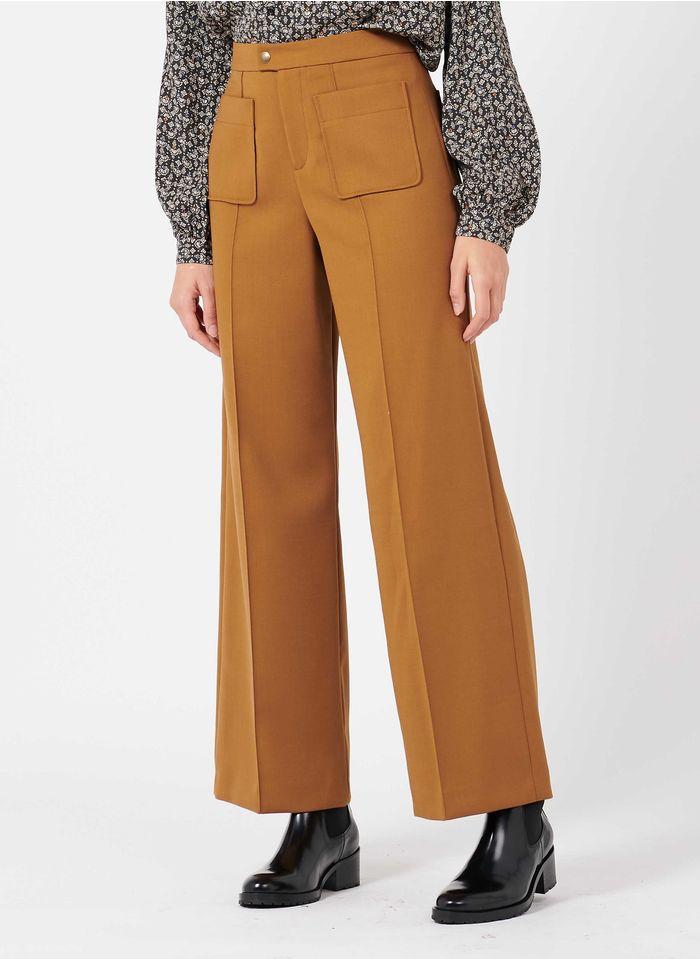 SOEUR Pantalón ancho en marrón