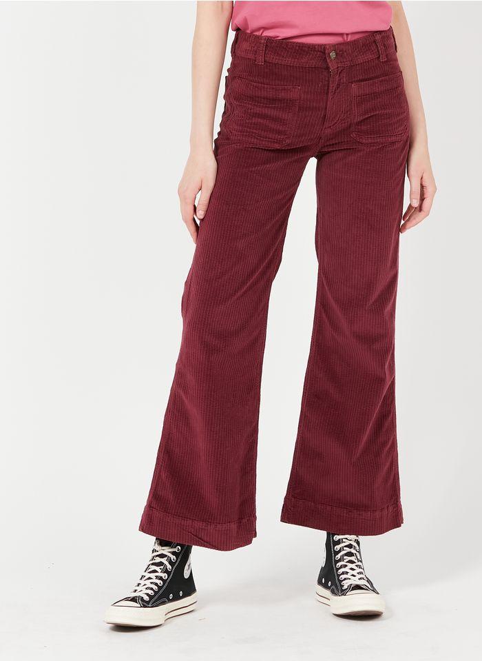 SWILDENS Pantalón boot-cut de pana en rosa