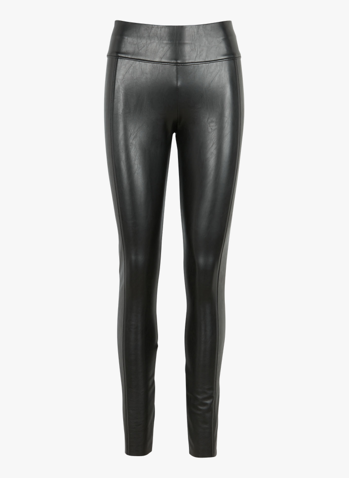 WOLFORD Legging de cuero vegano en negro