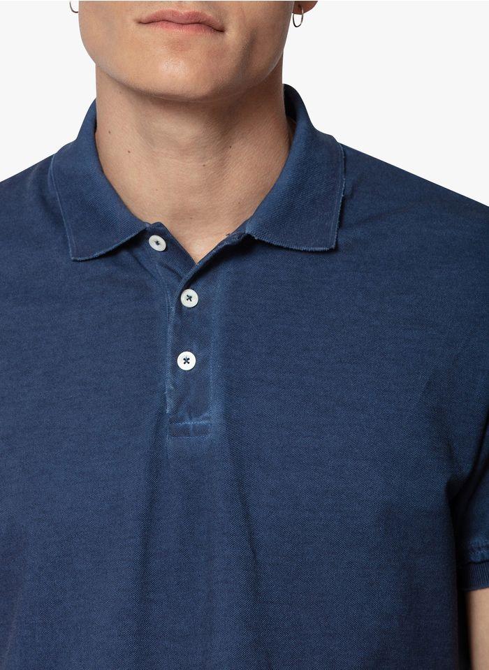 ZADIG&VOLTAIRE Polo de algodón de manga corta en azul