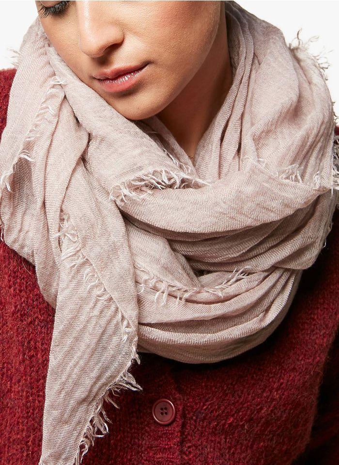 ACOTE Foulard en lyocell et laine Rose