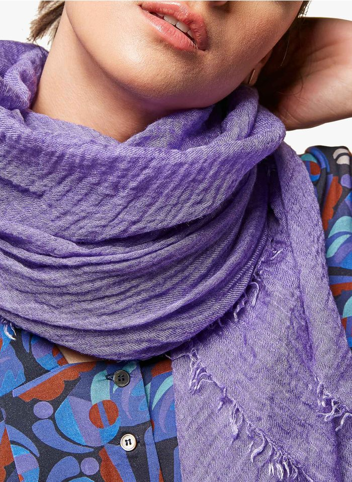 ACOTE Foulard en lyocell et laine Violet