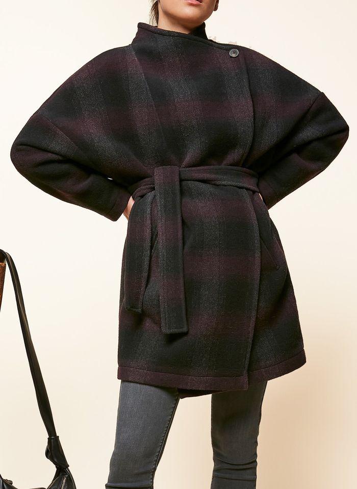 ACOTE Manteau en laine mélangée Noir
