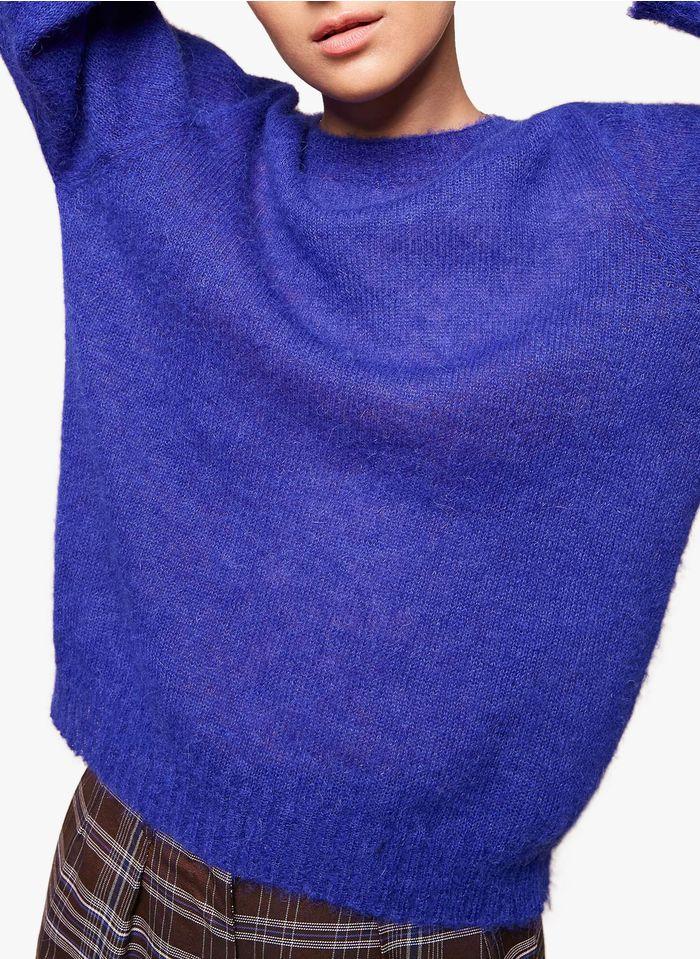 ACOTE Pull col rond en laine mélangée Violet