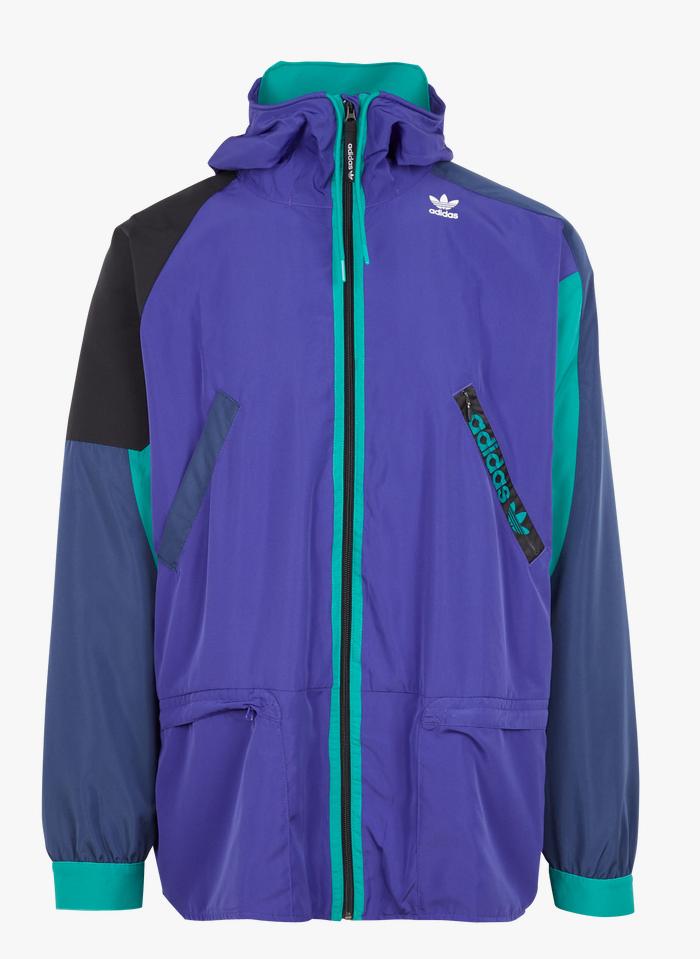 ADIDAS Coupe-vent col montant regular-fit zippé à capuche Bleu