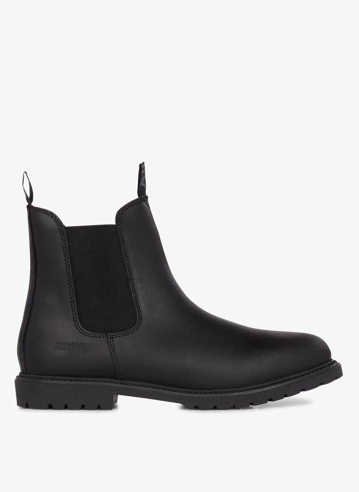 AIGLE Chelsea boots en cuir Noir