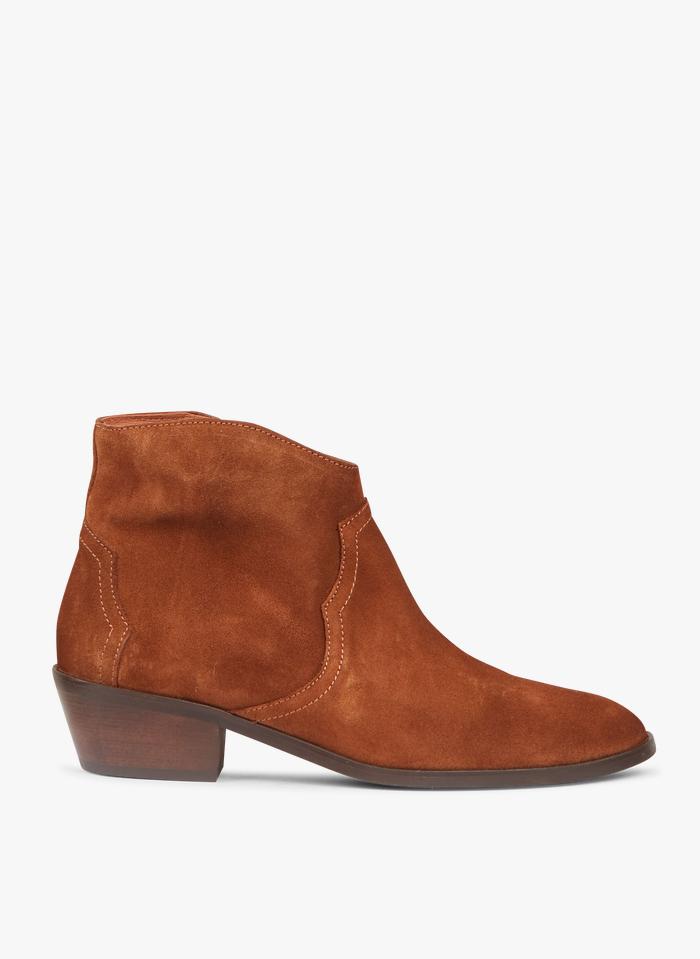 ANONYMOUS COPENHAGEN Boots en velours Marron