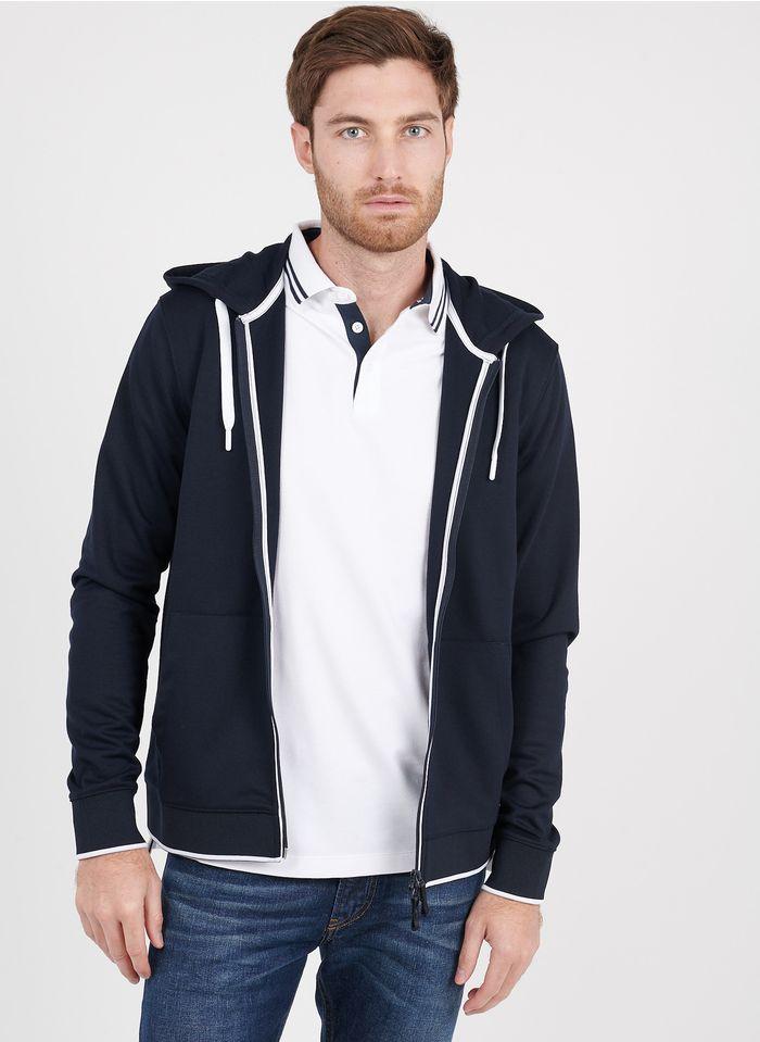 ARMANI EXCHANGE Gilet zippé regular-fit à capuche Bleu