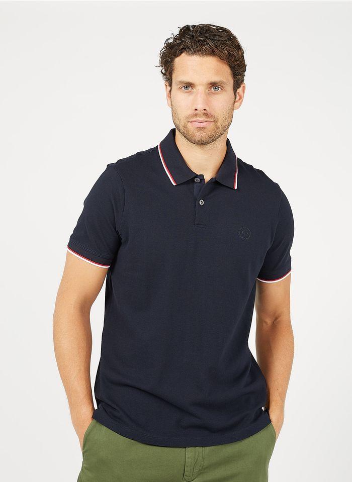 ARMANI EXCHANGE Polo regular fit en coton Bleu