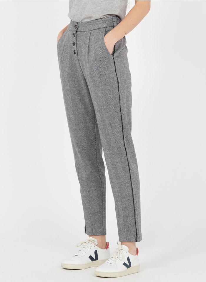 BEST MOUNTAIN Pantalon droit à motifs graphiques Gris