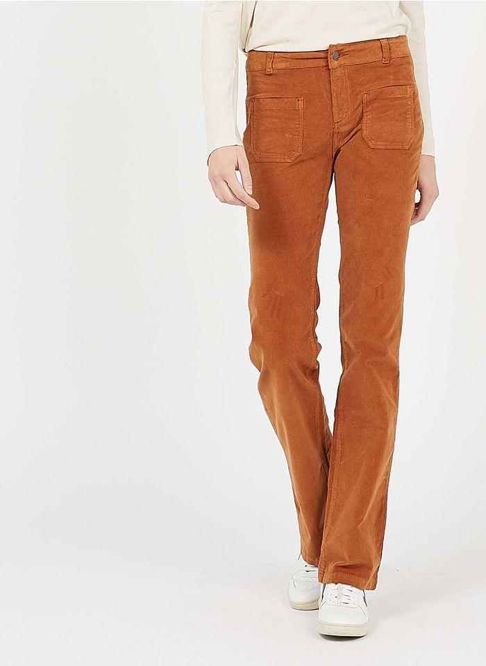 BEST MOUNTAIN Pantalon slim en velours côtelé  Marron
