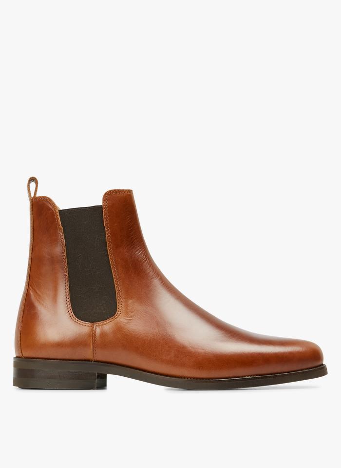 BOBBIES Boots en cuir  Marron