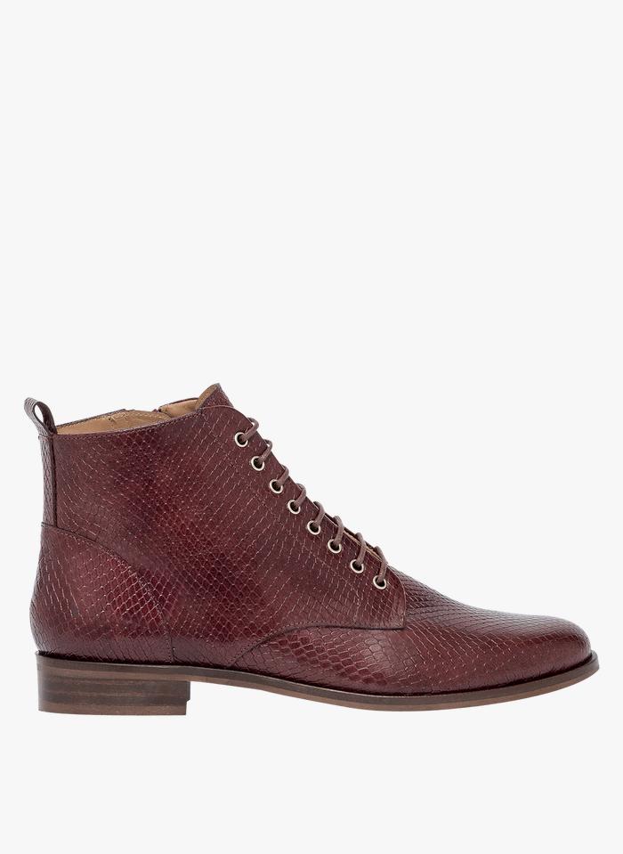 BOCAGE Boots en cuir Marron