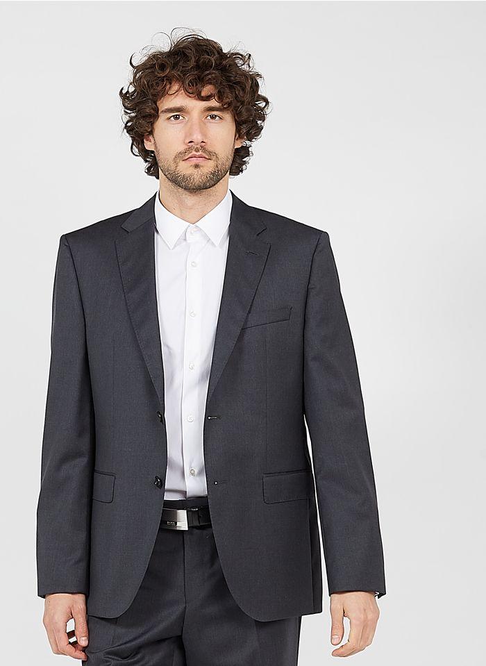 BOSS Veste de costume regular fit en laine Gris