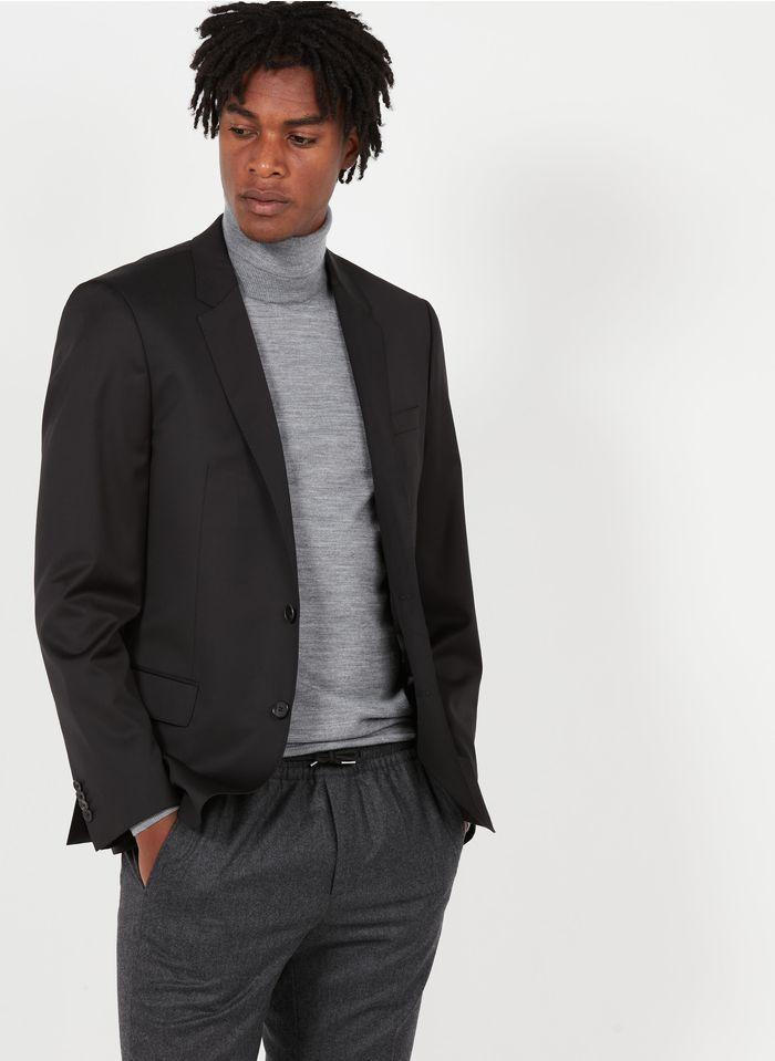 BOSS Veste de costume slim fit en laine Noir