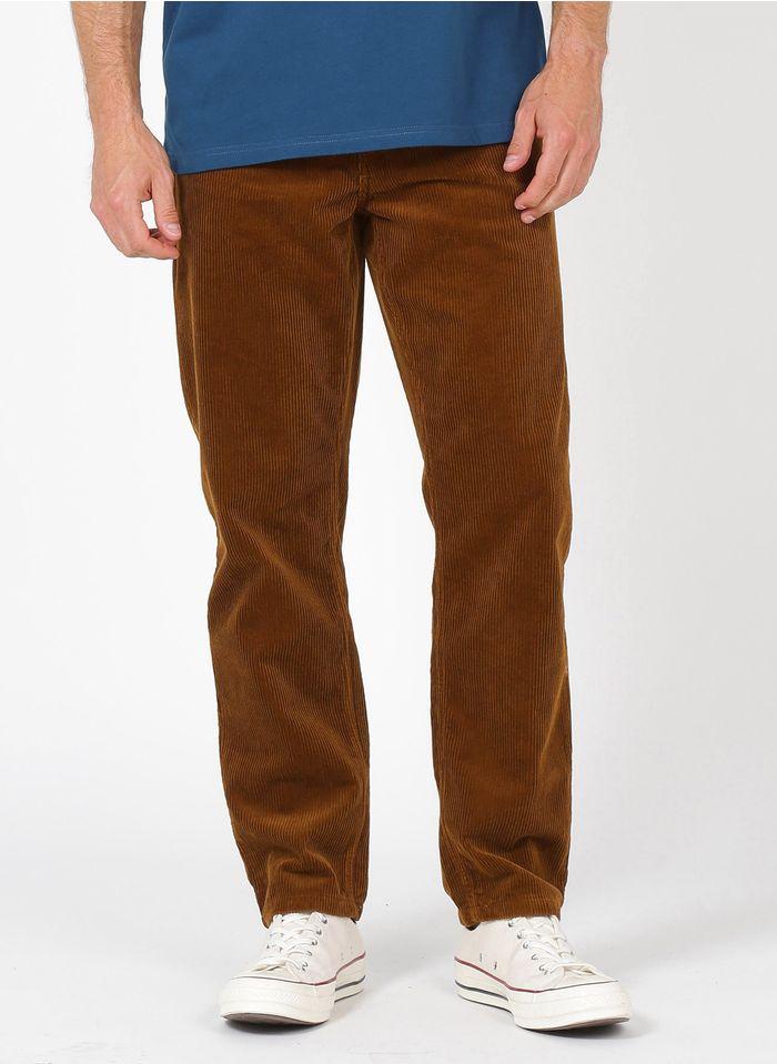 CARHARTT WIP Pantalon droit en velours côtelé Marron