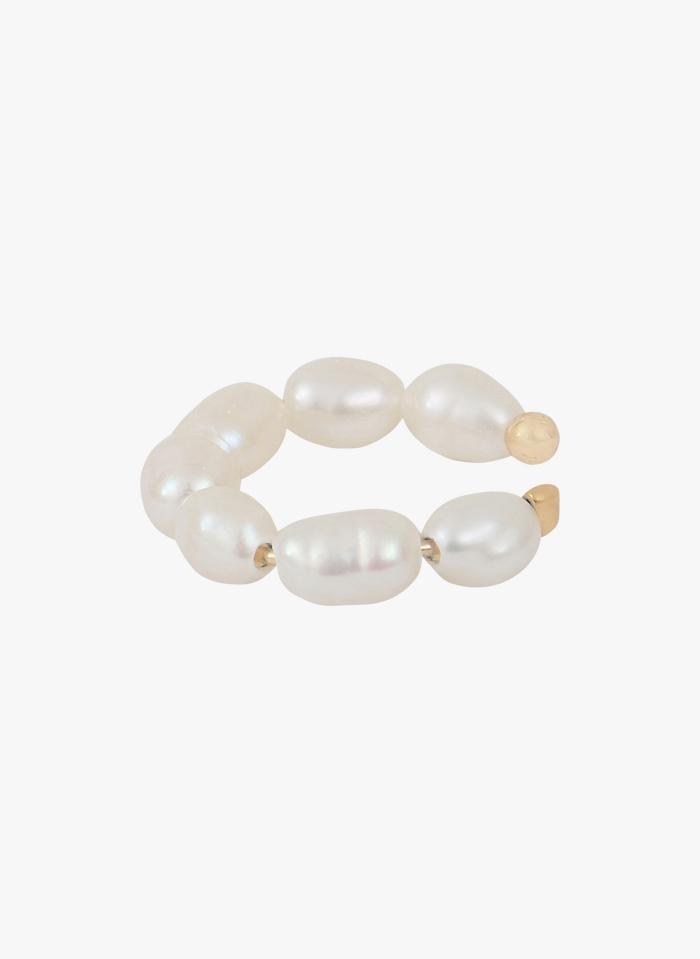 CAROLINE NAJMAN Bague d'oreille en perles Blanc