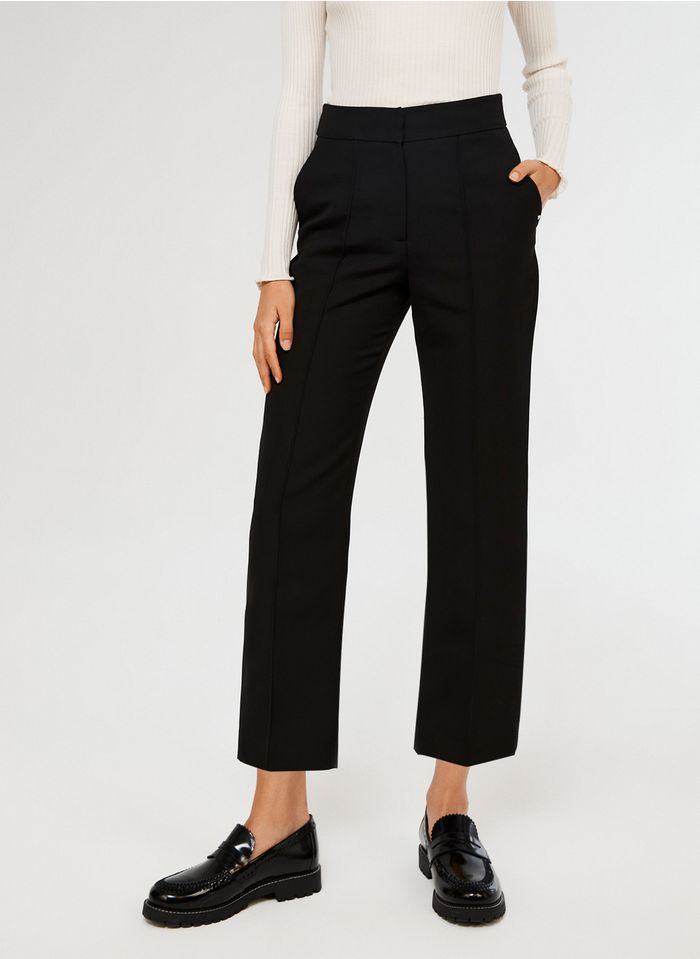 CLAUDIE PIERLOT Pantalon large taille haute Noir