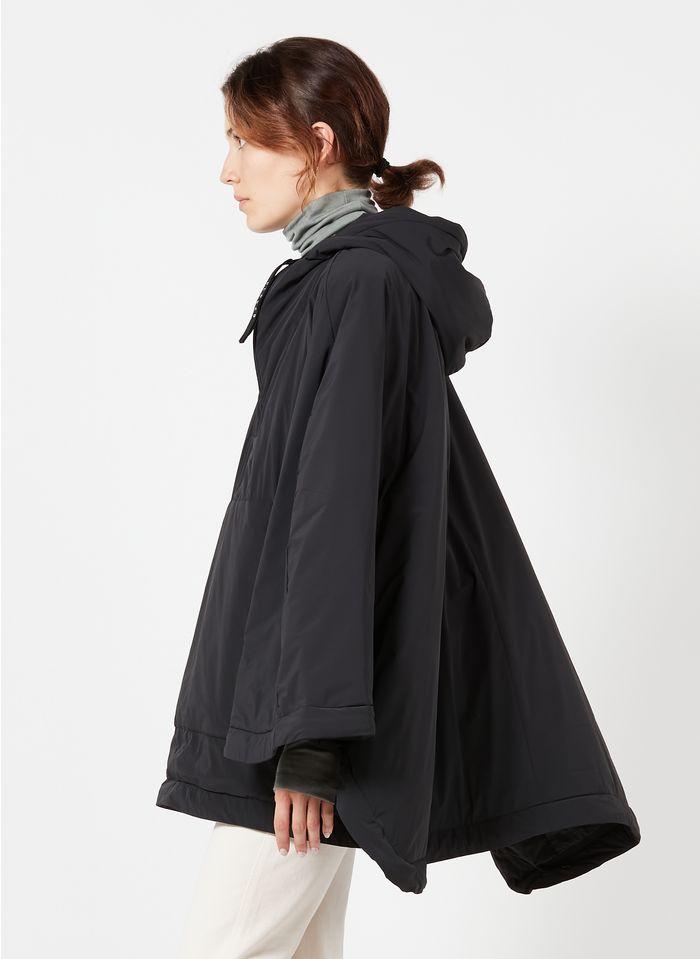 CLOSED Cape avec capuche en tissus technique Noir