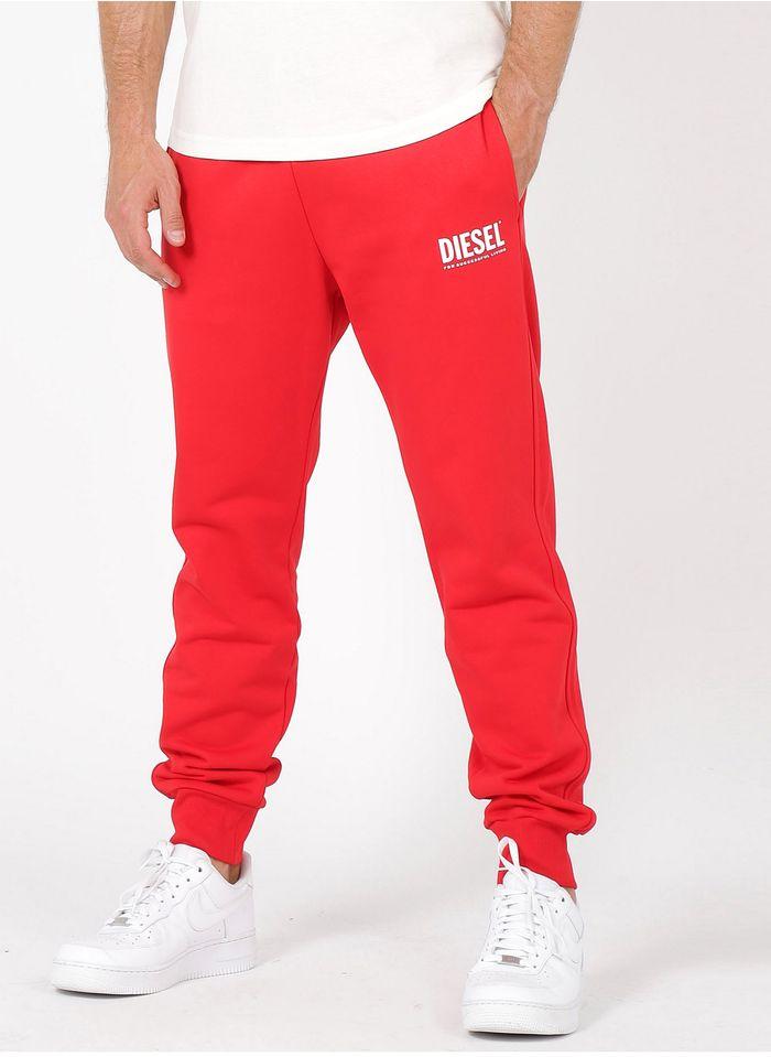 DIESEL Jogging en coton Rouge